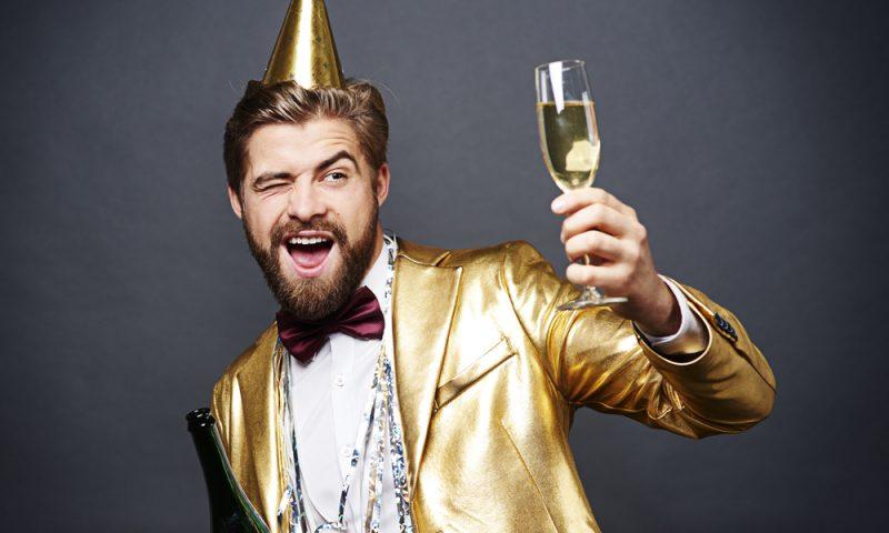 Vyras su šampanu